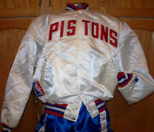 Autographed Classic Starter Satin Basketball Jacket - DETROIT PISTONS - Rodman