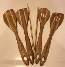 5 Piece Set Technique Bamboo Utensil Kitchen Cooking Tools