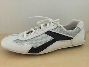 NEW Men's Prada White Navy Silver Mesh Lace Up Sneakers Shoe 7 EU 8 US