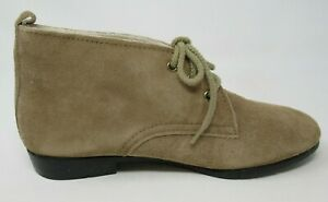 OUTDORABLES DANIEL GREEN WOMEN'S NOMAD TAUPE LEA. ANKLE BOOTS BOOTIES 7/N, NOS