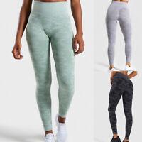 Damen Nahtlos Fitness Leggings Sport Yoga Fitness Gym Jogging Leggins Slim Fit_