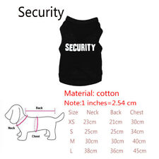 Summer Pet Puppy Small Dog Cat Fashion Clothes Dress Vest T Shirt Apparel Cloth Security S