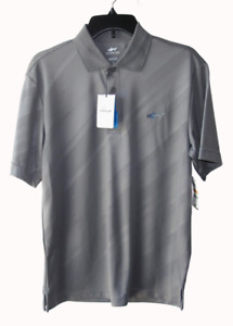 Greg Norman Attack Life New Size S Play Dry Gray Golf Polo Shirt