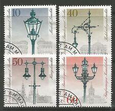 Berlin. 1979. 300th Anniv dell'illuminazione stradale Set. SG: b578/81. fine usato CTO.