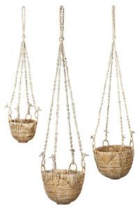 Savar (Set Of 3) Handmade Hanging Planters   Free Shipping   Fab Habitat