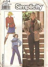 Vintage Sewing Pattern 9454 Cow Boy Shirt Jacket Pants Skirt Size 8-14