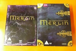 MERLIN ~ COMPLETE SECOND AND THIRD SERIES BBC DVD BOX SETS