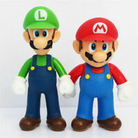 "Super Mario Bros 5"" Mario Luigi 2 in 1 PVC Action Figure Collectible Model Toy"