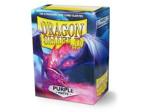 10 Packs Dragon Shield Matte Purple Standard Size 100 ct Card Sleeves Full Case