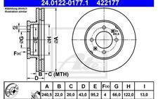 2x ATE Discos de freno delanteros Ventilado 240,5mm 24.0122-0177.1