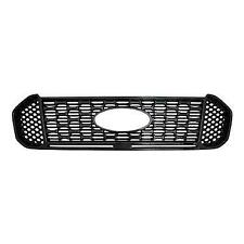 Gloss Black Grille Overlay Cover Insert FOR 2019 2020 Ford Ranger XL / XLT