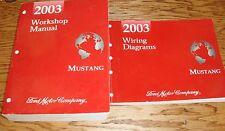 2003 Ford Mustang Shop Service Manual + Wiring Diagram Set 03