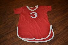 "A10- Vintage ""JOHNSON #3"" V-Neck Short Sleeve Sleep Shirt Size Small"