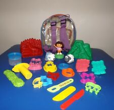 Vintage Dinosaur Molds & other Play-Doh Accessories + Storage Back Pack