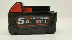 Milwaukee M18B5 18V 5.0Ah Lithium-Ion Battery - Red (4932430483)