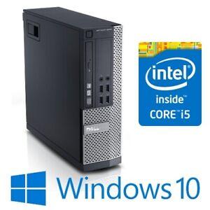 Dell Optiplex 990 SFF Desktop PC Computer Quad Core i5 2400 4G 250G Win 10 pro