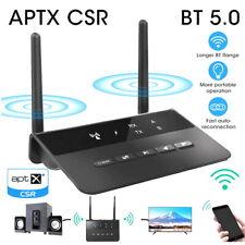 Long Range Bluetooth 5.0 Transmitter Receiver aptX HD Low Latency Audio Adapter