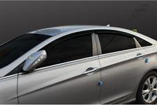 Smoke Window Vent Visors Rain Guards Tape On For Hyundai YF Sonata 2011-2014
