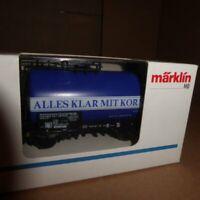 "Märklin 4642 H0 Tank Wagon "" All Clear With Grain "" DB Epoch 4/6 neuwertig Boxed"