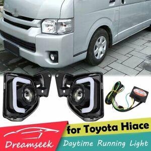 LED DRL Daytime Running Light for Toyota Hiace 2014-2018 Fog Lamp w/ Turn Signal