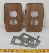Vintage Pair of Wood Grain Switch Plate Covers g25