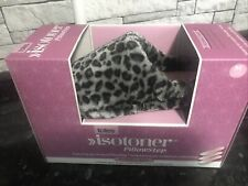 Totes Isotoner Leopard Print Mules Slippers Medium 5-6 Womens NEW