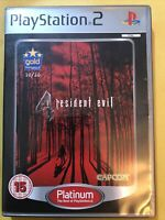 Resident Evil 4 (PS2) Platinum, Good PlayStation2, Playstation 2 Video Games
