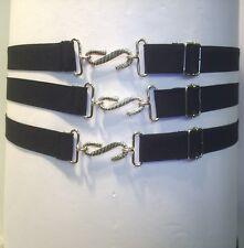 Presupuesto Ligero Elástico Moda Serpiente Cinturón Negro Multi Fit 1 in (approx. 2.54 cm) £ 1.99