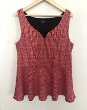 City Chic Red White Love hearts Top Size M