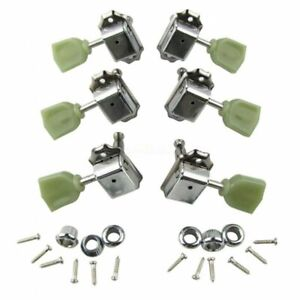 3x3 Vintage Tuners Tuning Pegs Guitar for Les Paul Guitars Aged Keystone Chrome