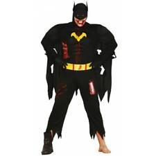 Zombie Super Hero Batman Halloween Mens Fancy Dress Costume Costume