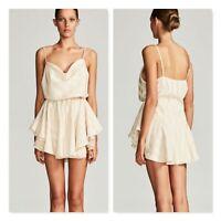 SHONA JOY | Womens Striped Print Mini Drawstring Dress [ Size AU 8 or US 4 ]