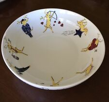 Pottery Barn REINDEER Large Nesting / Serving Bowl