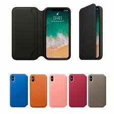 Genuine Leather Folio Flip Wallet Case Cover For Apple iPhone 11 Pro Max Xs 8 7