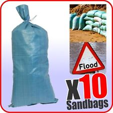 Sandbags 10 Pack Woven Material Sand Bags 750mm x 330mm Bouncy Castle Flood