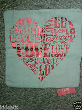 Zara Home Love is in the Air Red Text Heart Cushion Cover BNWT £19.99 in Store