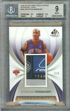 STEPHON MARBURY 2005-06 SP GAME USED EDITION AUTHENTIC TAG 3/3 #RT-SM BGS 9