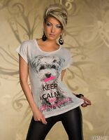 Women's Casual Keep Calm Be Happy T-shirt UK size 10-12