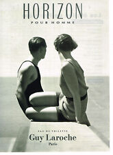 PUBLICITE ADVERTISING 054  1993  GUY LAROCHE  eau de toilette HORIZON pour homme