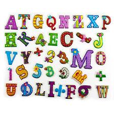 Buchstaben Sticker 3D Alphabet Zahlen Operationszeichen Aufkleber Kinder Lernen