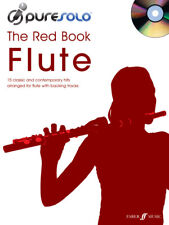 FLUTE SHEET MUSIC BOOK & CD PURE SOLO THE RED BOOK