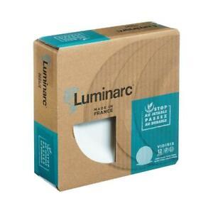 Luminarc 12Pc Vidiris Dinner 25cm Serving Plate Contemporary Porcelain White New