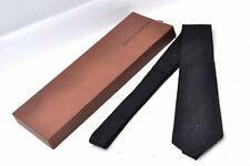 Authentic Louis Vuitton Monogram Necktie Tie Silk Black Box LV 98747