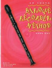 Recorder Method, Baroque Recorder, Book One (Recorder Method, Book 1) by Ed Suet