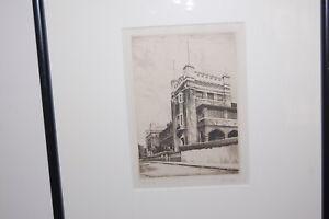 Original etching by Alfred Warnerof New South Wale M.L.C. Girls' School, Sydney.