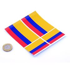 "Colombia Flag Stickers x4 3"" & 2"" Car Vinyl Rally Racing Window Decals"
