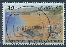 q300)  Cyprus. 1999. Used. SG 970 30c Turtles at Lara Reserve. Europa.