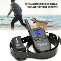 Petrainer Dog Training Shock Collar Rechargable Remote Conrol E Collar for Dogs