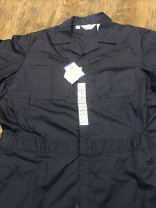 Walls Master Made Men's Coverall Jumpsuit Navy Blue 54 Reg Short Sleeve New