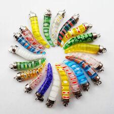 20pcs Beautiful Mixed Color Millefiori Glass Pepper Pendant Bead(Randomly send)
